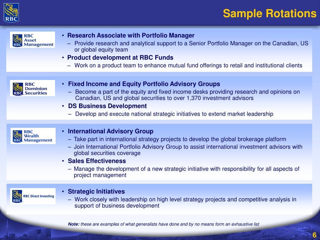 PPT - RBC Wealth Management Generalist Program PowerPoint
