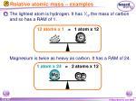 relative atomic mass examples