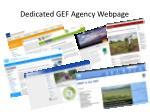 dedicated gef agency webpage