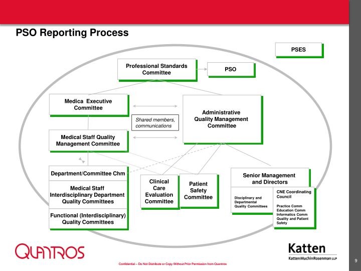 PSO Reporting Process