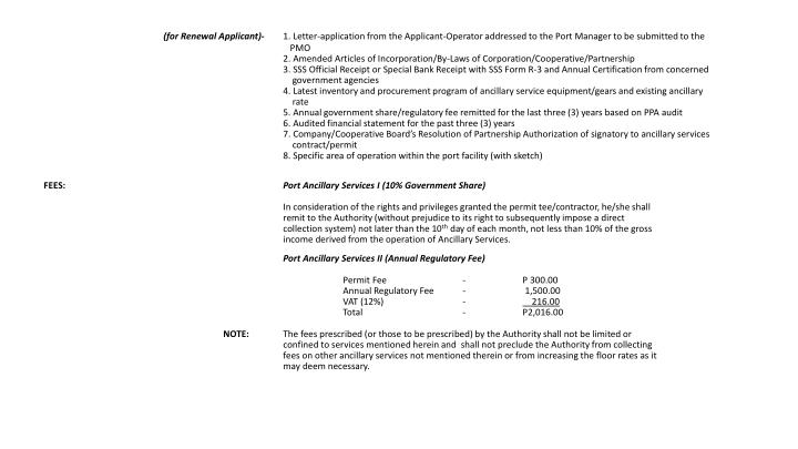 (for Renewal Applicant)-
