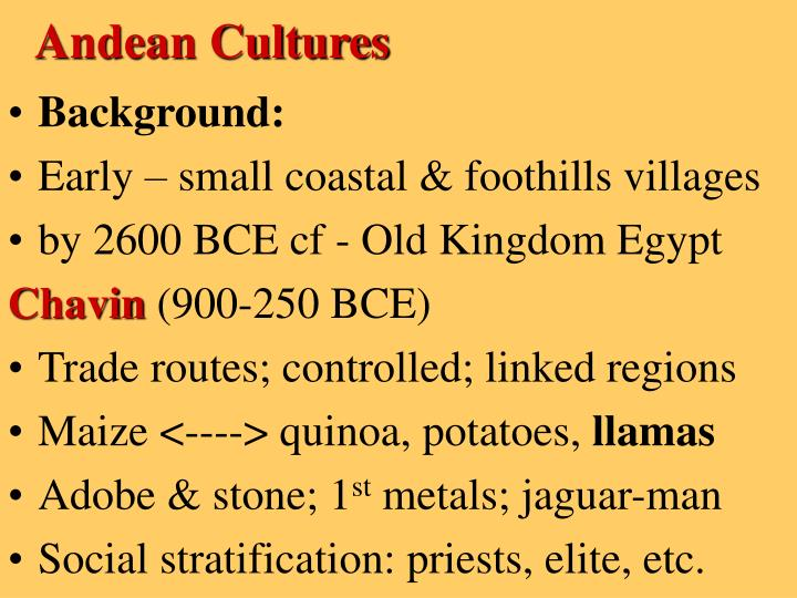 Andean Cultures