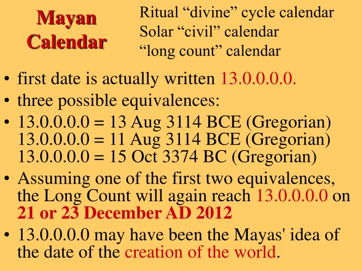 "Ritual ""divine"" cycle calendar"