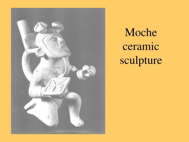 Moche ceramic sculpture
