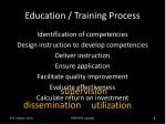 education training process