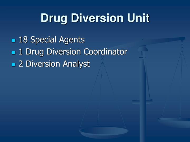 Drug diversion unit