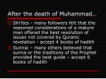 after the death of muhammad