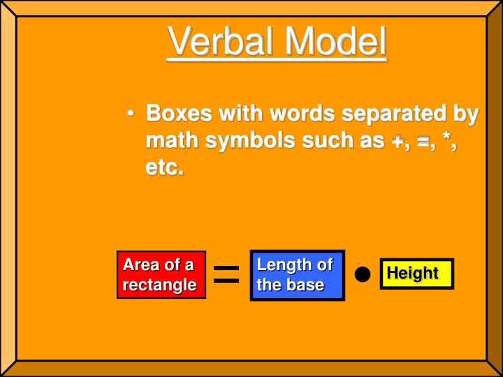 Verbal Model
