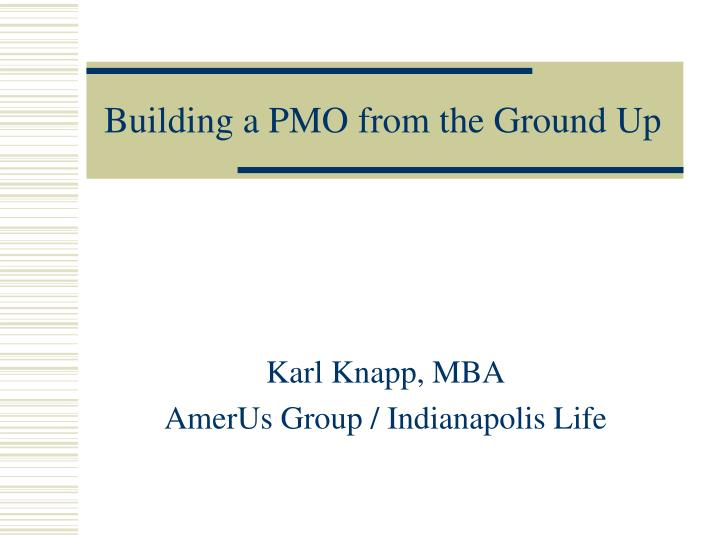 building a pmo from the ground up n.