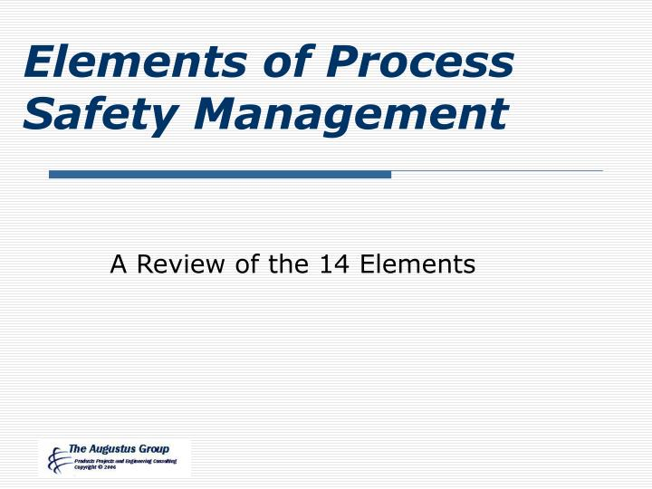 elements of process safety management n.