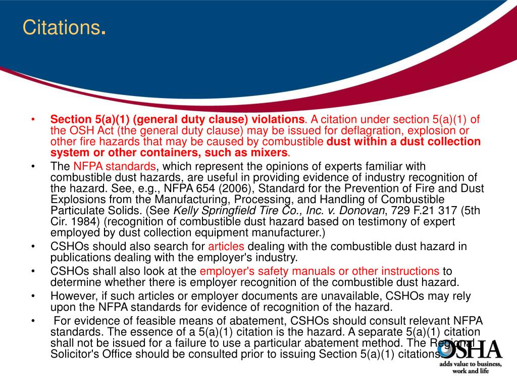 PPT - Combustible Dust Hazards and Control PowerPoint Presentation