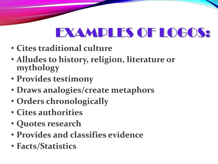 Examples of Logos: