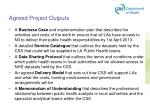 agreed project outputs
