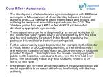 core offer agreements