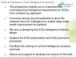 vision headlines of ccg intelligence programme