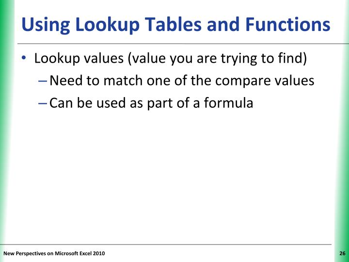 Using Lookup Tables and Functions