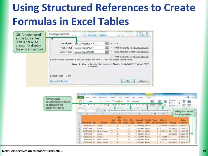 Using Structured References to Create Formulas in Excel Tables