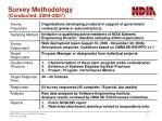 survey methodology conducted 2004 2007