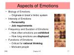 aspects of emotions