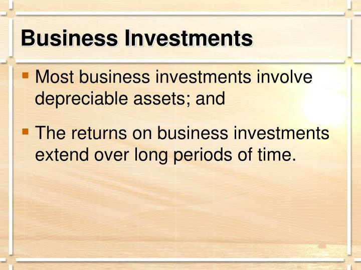 Business Investments