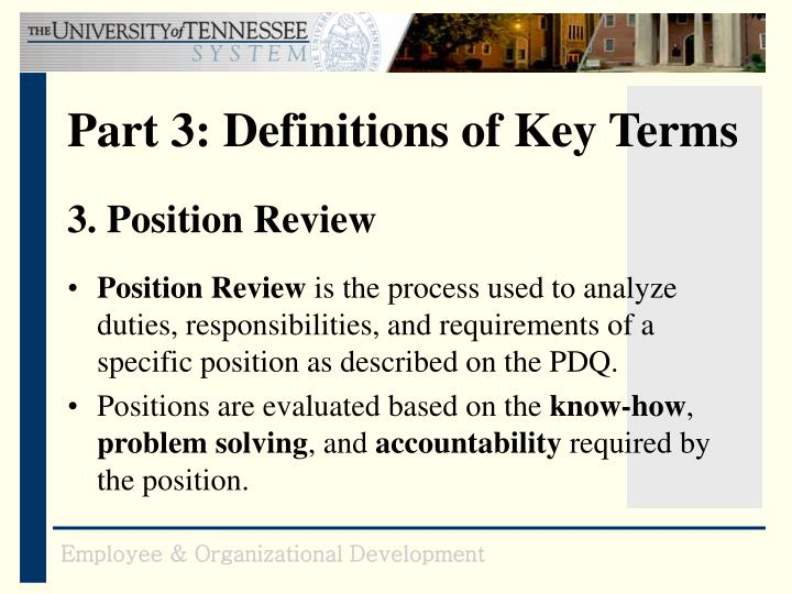 3. Position Review