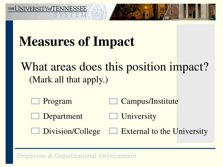 Measures of Impact