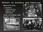 effect on workers and families1