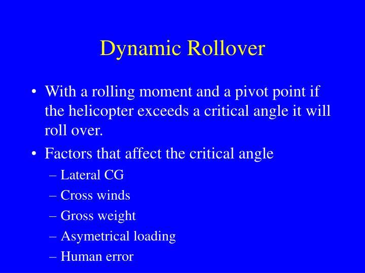 Dynamic Rollover