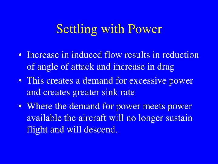 Settling with Power
