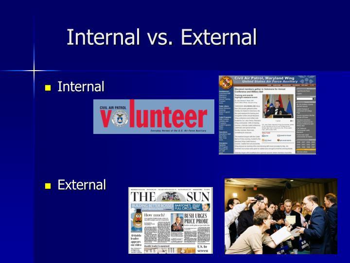 Internal vs. External
