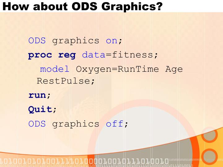 How about ODS Graphics?