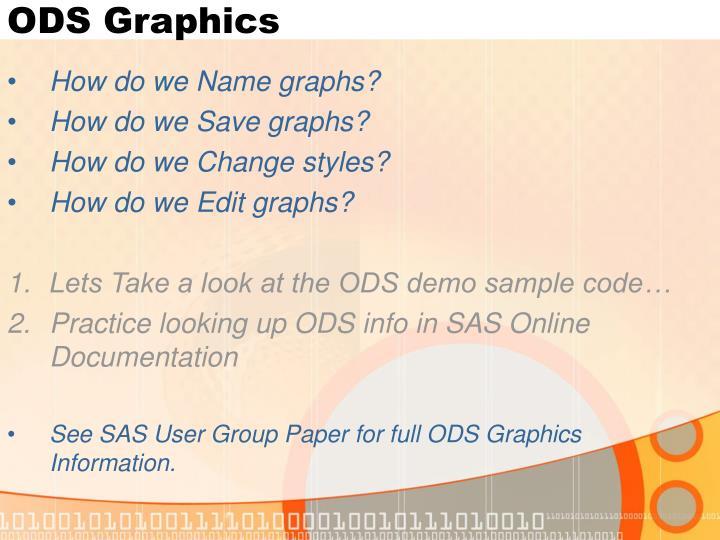 ODS Graphics