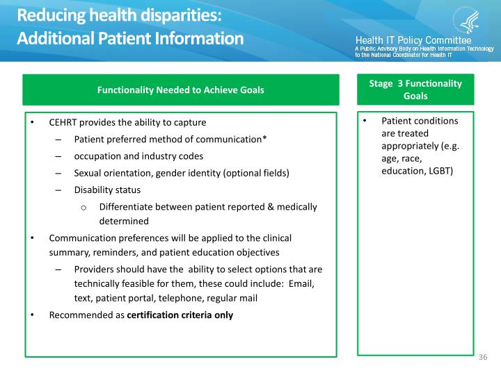 Reducing health disparities: