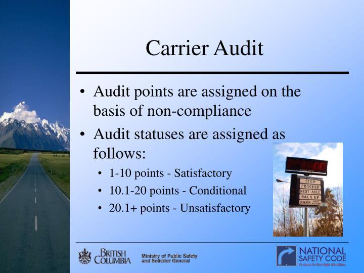 Carrier Audit