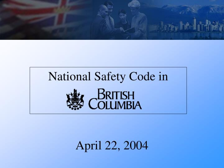 National safety code in