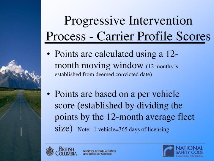 Progressive Intervention Process - Carrier Profile Scores