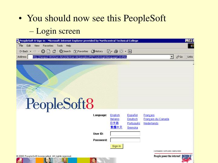 You should now see this PeopleSoft