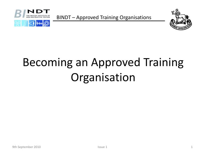 becoming an approved training organisation n.