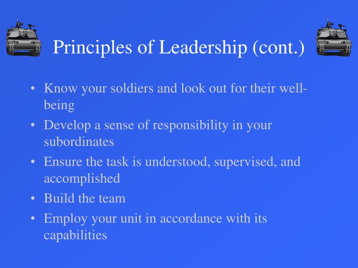 principled leadership Principled leadership - what we implement results: measurement and tracking of key metrics from the categories of safety, quality, cost, timeliness and quantity.