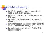 appletalk addressing