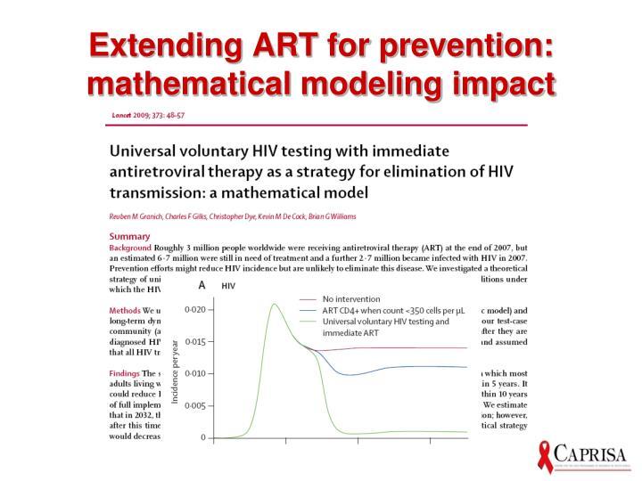 Extending ART for prevention: