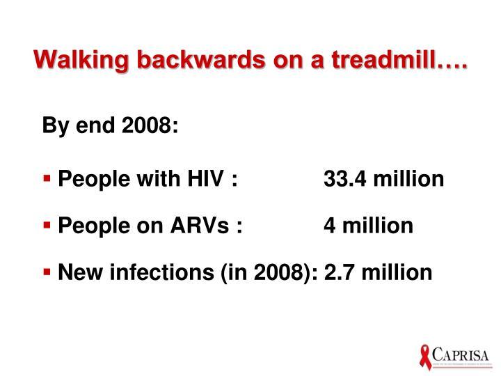 Walking backwards on a treadmill….