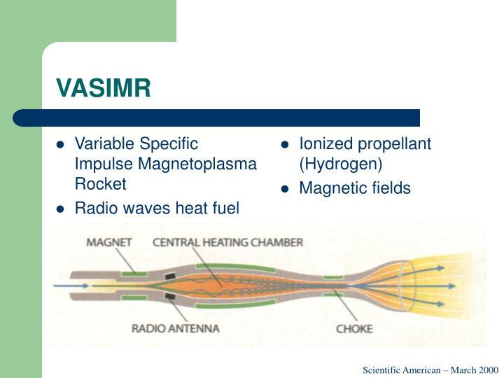 Variable Specific Impulse Magnetoplasma Rocket