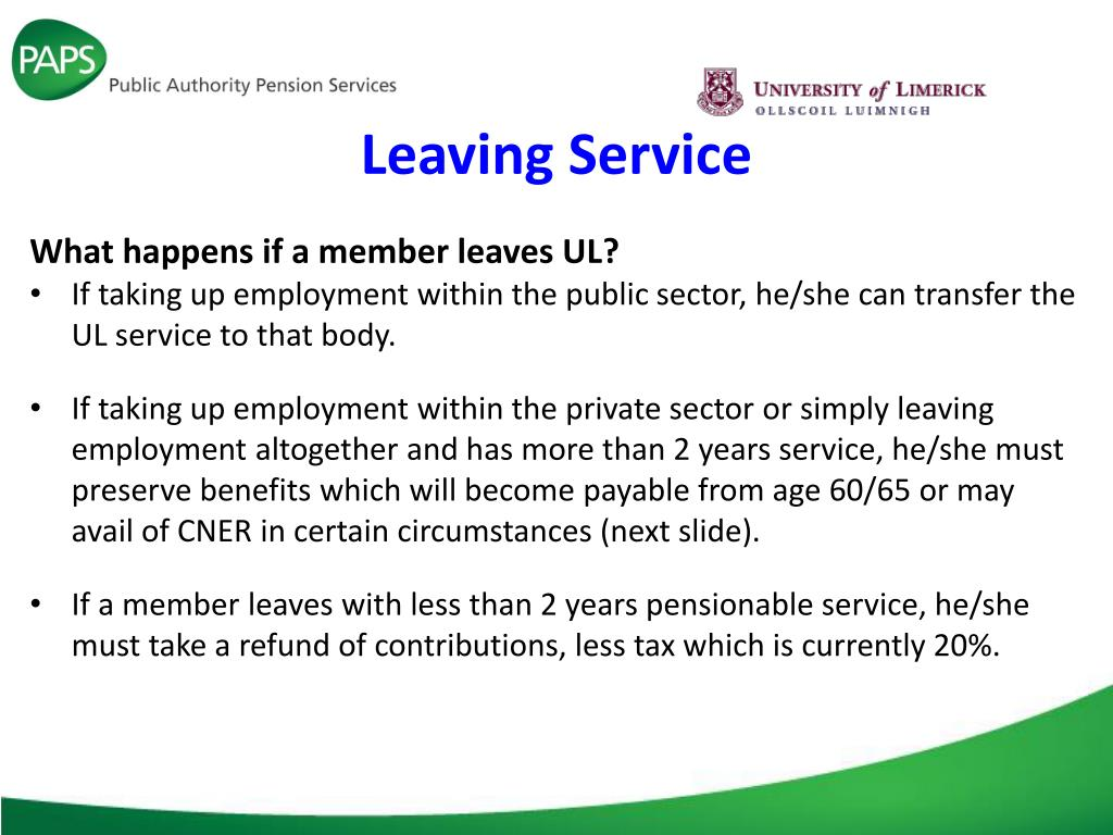 PPT - University of Limerick (UL) Superannuation Scheme