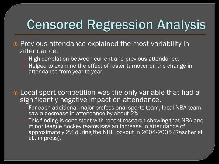 Censored Regression Analysis