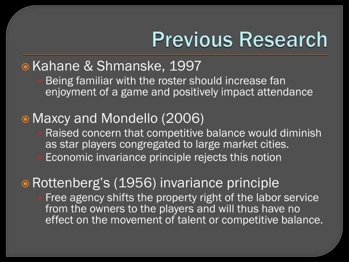 Previous Research