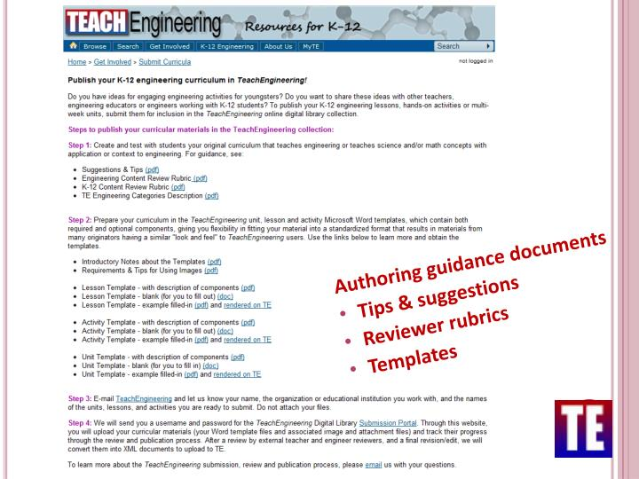 Authoring guidance documents