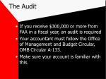 the audit