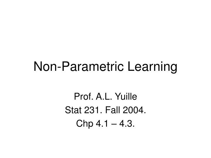 non parametric learning