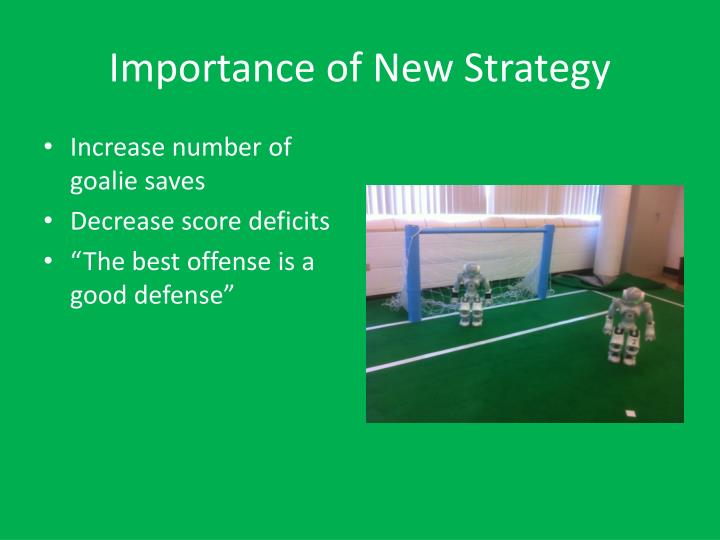 Importance of new strategy